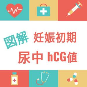 図解 妊娠初期 週別 尿中hCG値