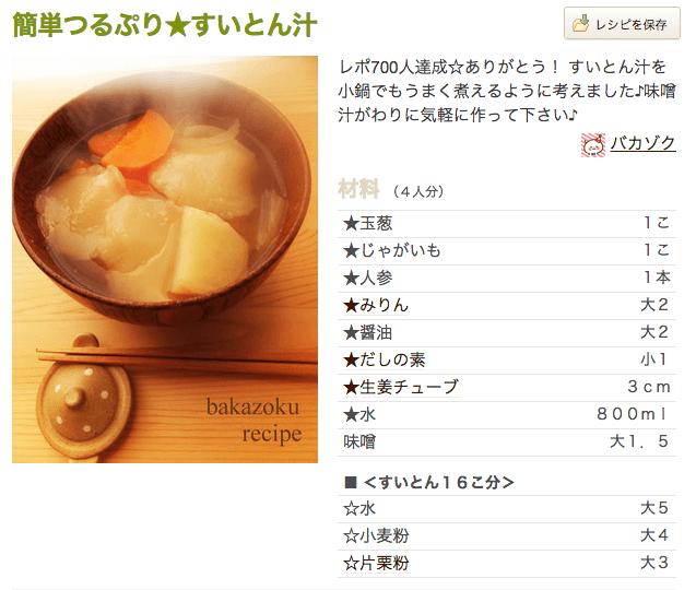 おいしい味噌汁レシピ つくれぽ キャベツ すいとん