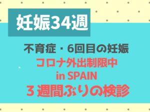 ブログ 妊娠34週 不育症 スペイン コロナ